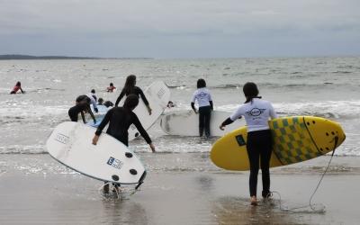 Option surf à l'école